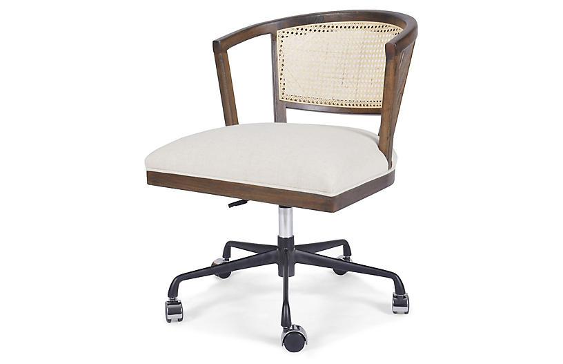 Parker Cane Desk Chair, Vintage Sienna