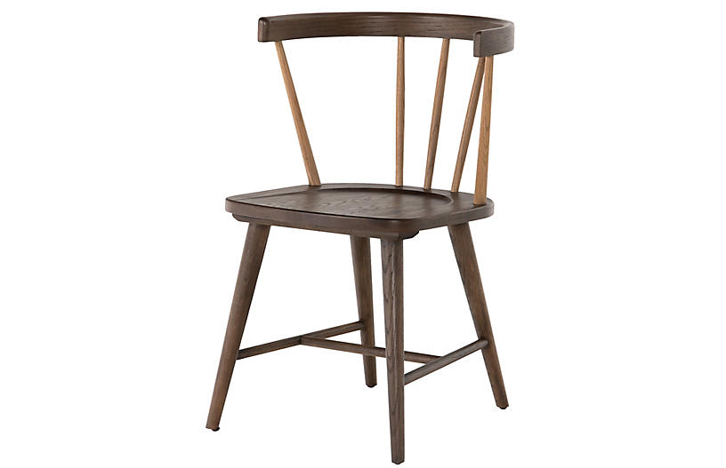 Charlie Dining Chair, Burnished Oak/Cocoa