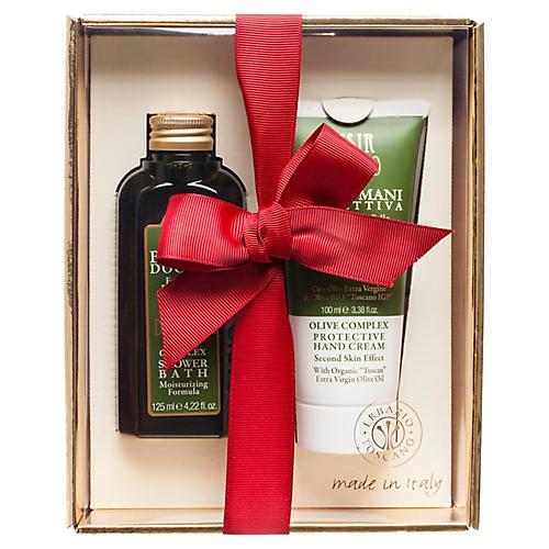 Shower & Hand Cream Set, Olive Complex