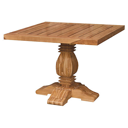 Tuscan Teak Square Dining Table, Natural