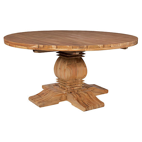 Tuscan Teak Dining Table, Natural