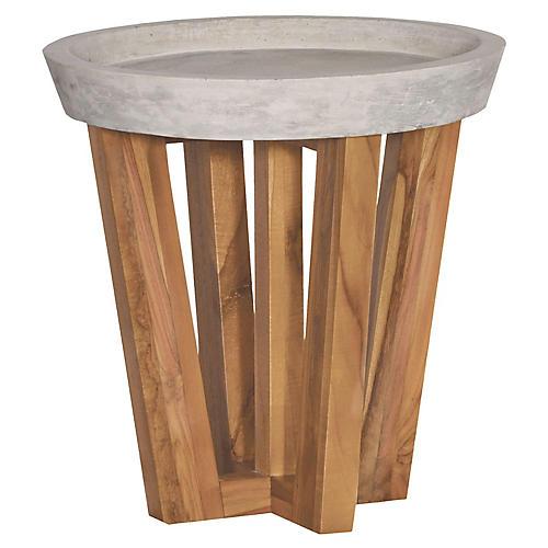 Rossland Teak Side Table, Natural