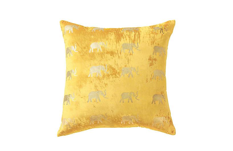 Meru Pillow, Gold Velvet
