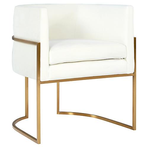 Fao Side Chair, Cream Velvet