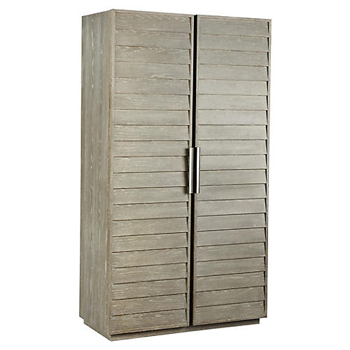 Zephyr Armoire, Graywash