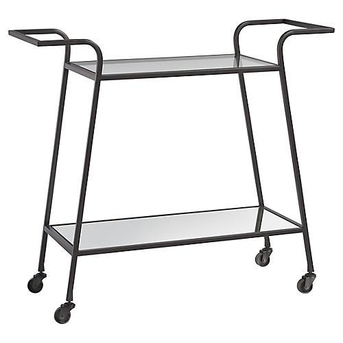 Liam Bar Cart, Dark Bronze