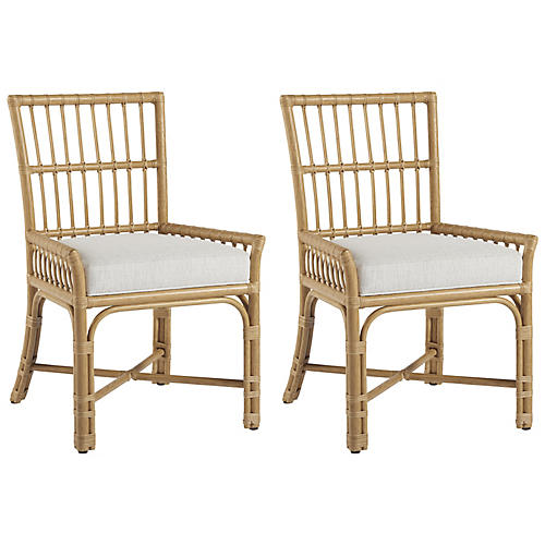 S/2 Tarpon Side Chairs, Natural