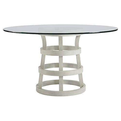 Traverse Round Dining Table, White