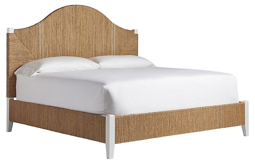 Asbury Bed, Natural/White