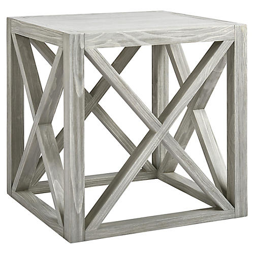 Liam Side Table, Gray