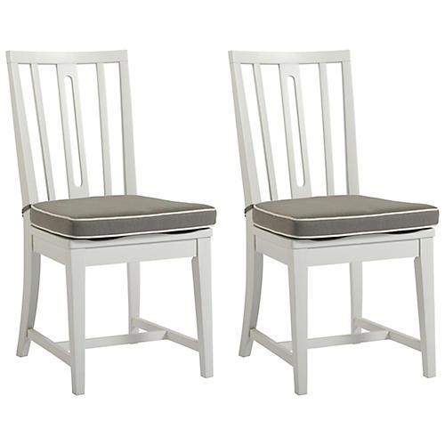S/2 Jupiter Side Chairs, White