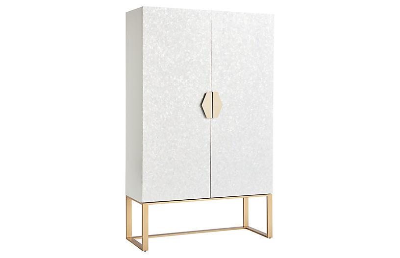 Opaline Cabinet, White Lacquer