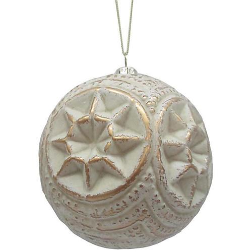 Distressed Ornament, White