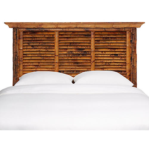 Louvered Headboard, Antique Tortoise