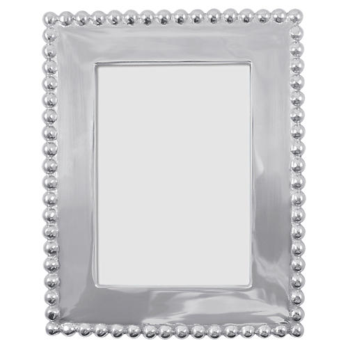 5x7 Pearled Vertical Frame, Silver