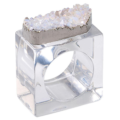 S/4 Rock Napkin Holders, Clear