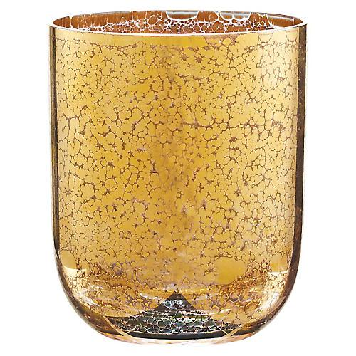 S/4 Crackle DOF Glasses, Gold
