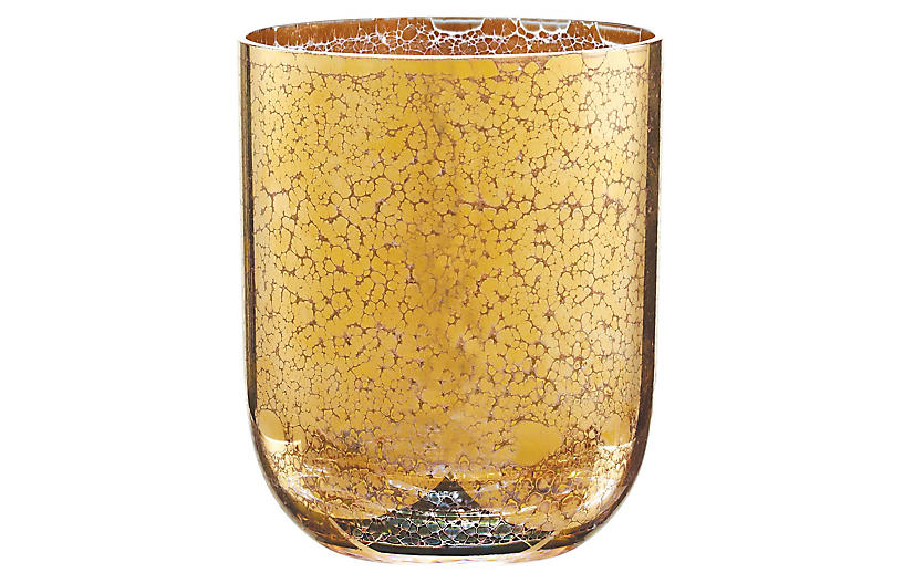S/4 Crackle DOF Glasses, Gold