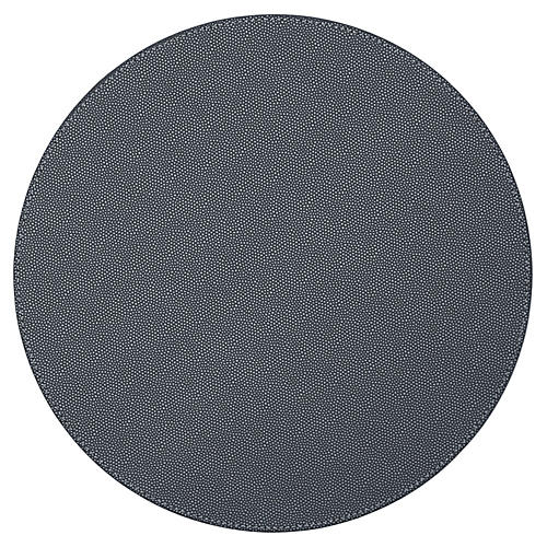 S/4 Faux-Shagreen Place Mats, Coal