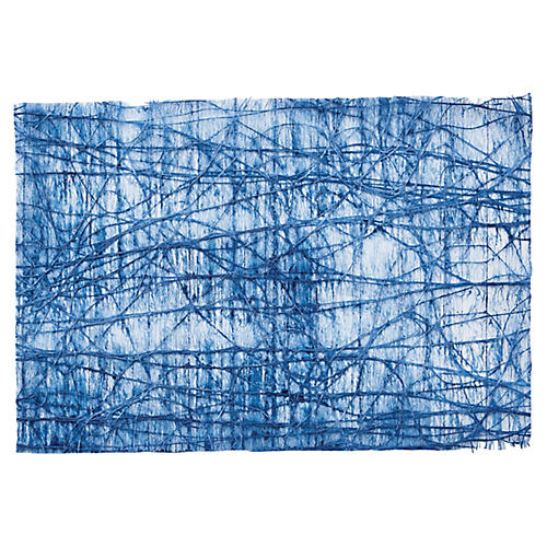 S/12 Tangle Place Mats, Blue