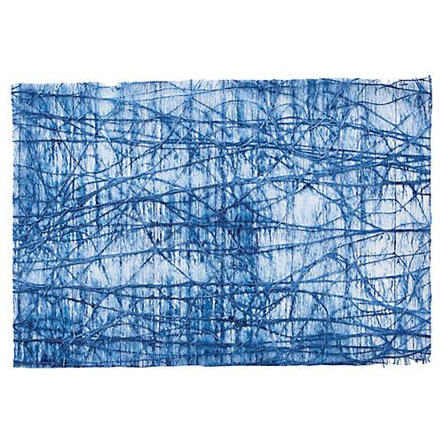 S/12 Tangle Place Mats, Blue
