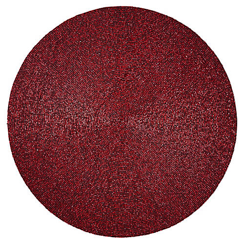 S/4 Confetti Place Mats, Red