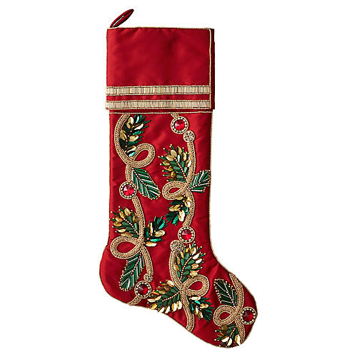 """20"""" Christmas Stocking, Red/Green"""