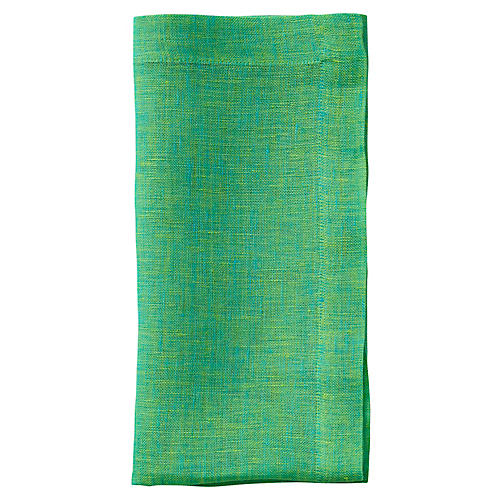 S/4 Cross Dye Napkins, Lime