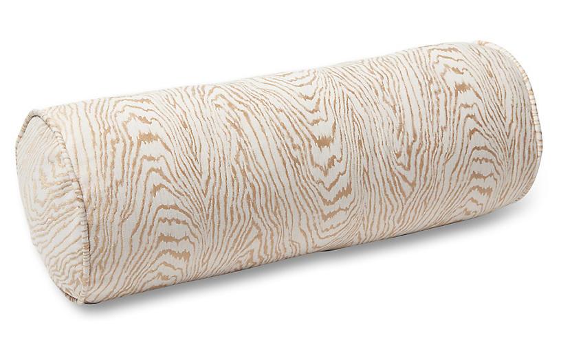Freya 7x20 Bolster Pillow, Gold Faux Bois