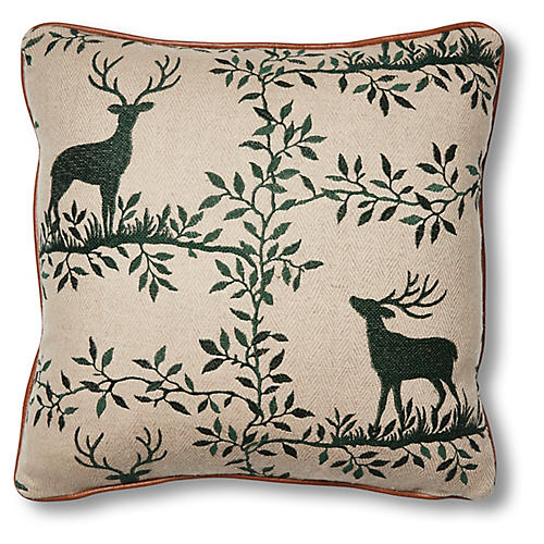 Lottie 19x19 Pillow, Stag