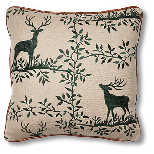 Lottie 19x19 Pillow, Stag