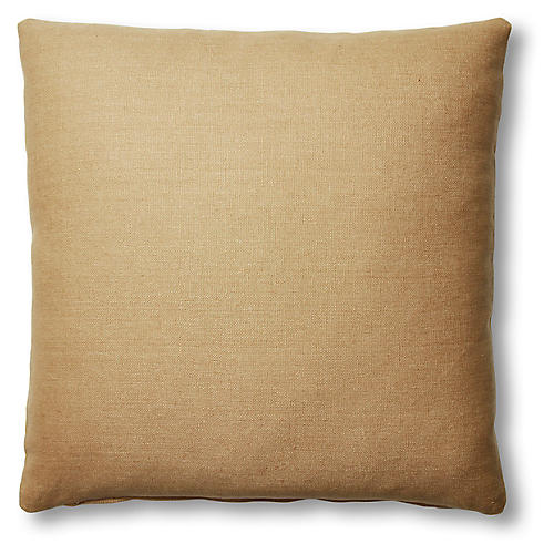 Hazel Pillow, Camel Linen