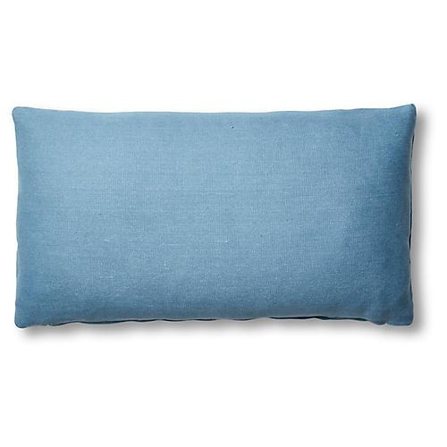 Ada Lumbar Pillow, Chambray Linen