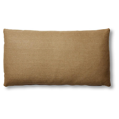 Ada Long Lumbar Pillow, English Green Linen