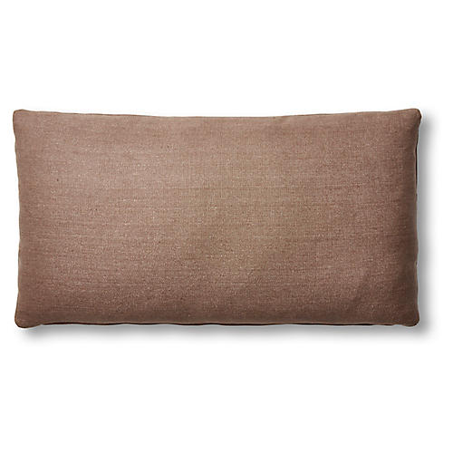 Ada Long Lumbar Pillow, Earth Linen