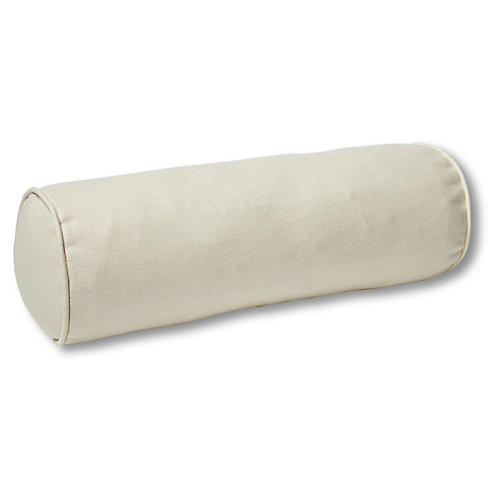 Anne Bolster Pillow, Khaki Linen