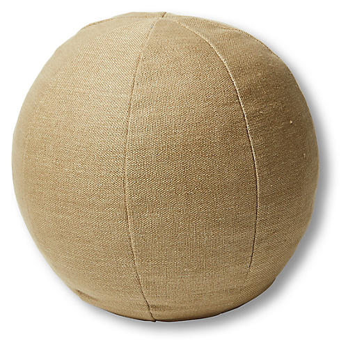Emma 11x11 Ball Pillow, English Green Linen