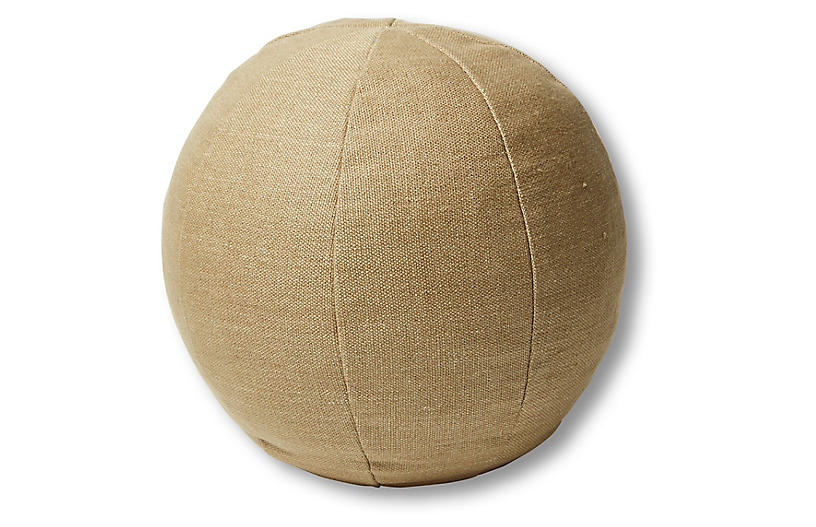 Emma 11x11 Ball Pillow, English Green Linen