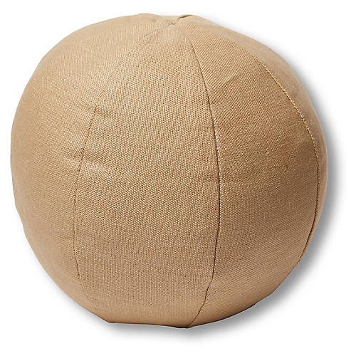 Emma 11x11 Ball Pillow, Hemp Linen