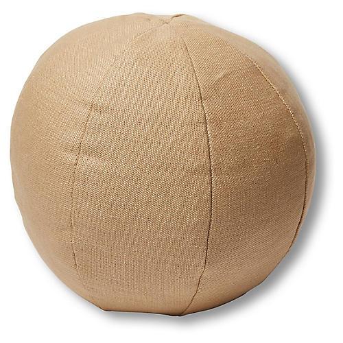 Emma 11x11 Ball Pillow, Hemp Linen