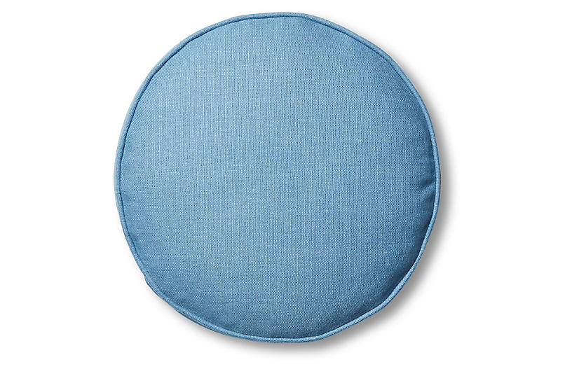Claire 16x16 Disc Pillow, Chambray Linen