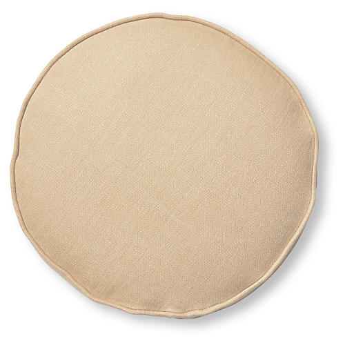 Claire 16x16 Disc Pillow, Camel Linen