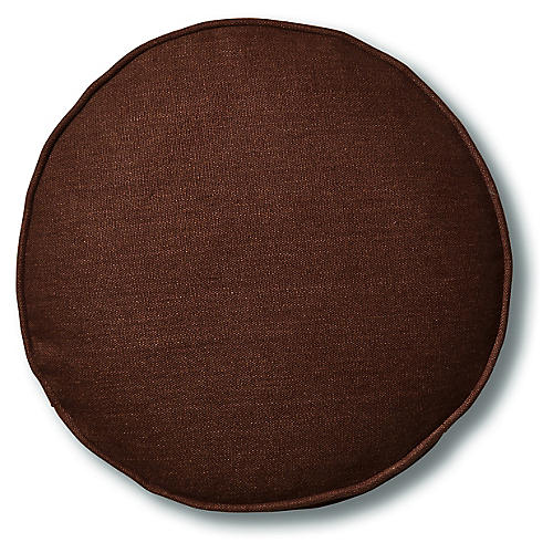 Claire 16x16 Disc Pillow, Walnut Linen