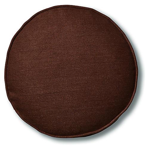 Claire 16x16 Disc Pillow, Walnut Linen