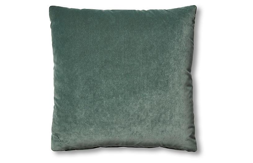 Hazel Pillow, Jade Velvet