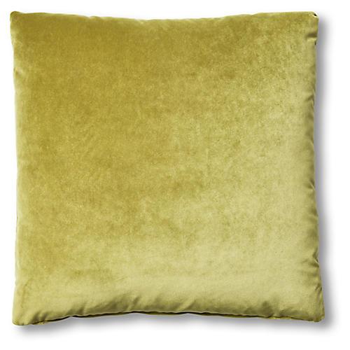 Hazel Pillow, Chartreuse Velvet