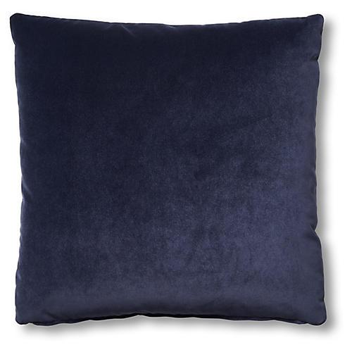 Hazel Pillow, Navy Velvet
