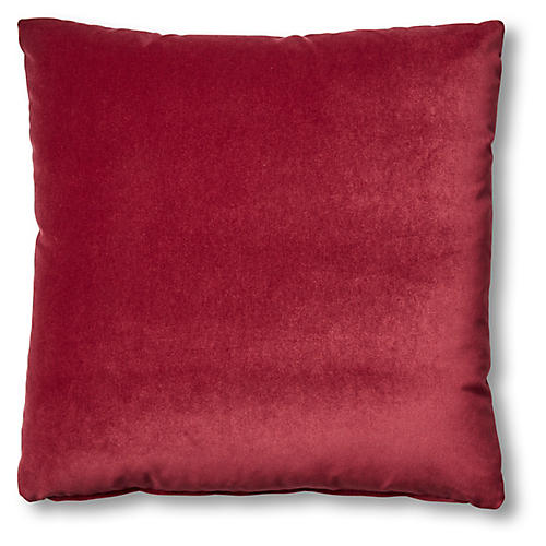 Hazel Pillow, Currant Velvet