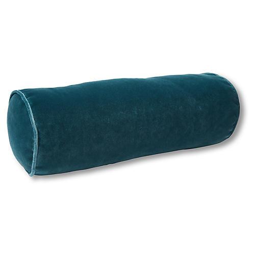 Anne Bolster Pillow, Teal Velvet