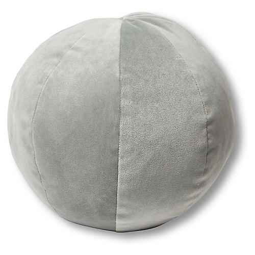 Emma 11x11 Ball Pillow, Mineral Velvet